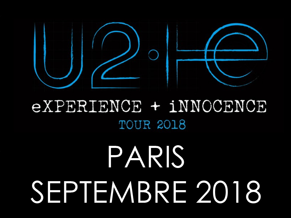 Place concert U2 Paris 2018